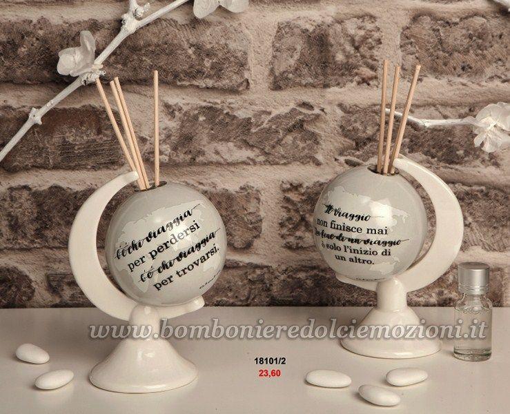 Bomboniere Matrimonio Meno Di 10 Euro.Bomboniera Matrimonio Claraluna Mappamondo Diffusore Con Kit